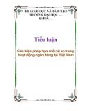 Tiểu luận: Các biện pháp hạn chế rủi ro trong hoạt động ngân hàng tại Việt Nam