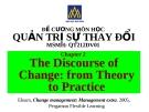 Đề cương quản trị sự thay đổi (ĐH Hoa Sen) - Chương 2