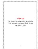 Luận văn: Lập kế hoạch Marketing cho dịch vụ chuyển tiền trong nước ở Bưu Điện Thành Phố Cần Thơ giai đoạn 04/2006 – 03/2007