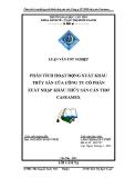 Luận văn:Phân tích hoạt động xuất khẩu thủy sản của Công ty CP XNK thủy sản Caseamex