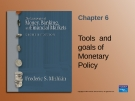 Tool and goal of monetary policy