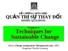 Đề cương quản trị sự thay đổi (ĐH Hoa Sen) - Chương 6