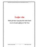 Đề tài: Đánh giá thực trạng đạo đức kinh doanh của các doanh nghiệp tại Việt Nam