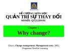 Đề cương quản trị sự thay đổi (ĐH Hoa Sen) - Chương 1
