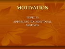 Appealing Individual Motives