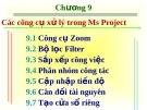 Các công cụ xử lý trong Ms Project