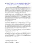 So sánh năng suất 5 giống dưa hấu có triển vọng tại Tri Tôn–An Giang vào mùa mưa năm 2005