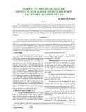 NGHIÊN CỨU MỘT SỐ LOẠI GIÁ THỂ TRỒNG CẢI MẦM (RADISH SPROUT) THÍCH HỢP VÀ CHO HIỆU QUẢ KINH TẾ CAO