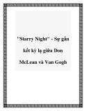"""""""Starry Night"""" - Sự gắn kết kỳ lạ giữa Don McLean và Van Gogh"""