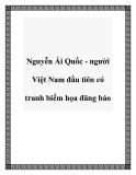 Nguyễn Ái Quốc - người Việt Nam đầu tiên có tranh biếm họa đăng báo