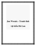 Jan Weenix - Tranh tĩnh vật kiểu Hà Lan