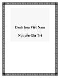 Danh họa Việt Nam Nguyễn Gia Trí