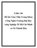Đề tài: Giao Tiếp Trong Khoa Công Nghệ Trường Đại Học công Nghiệp TP Hồ Chí Minh cơ Sở Thanh Hóa