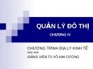 Bài giảng: Quản lý đô thị - Chương 4 (TS Võ Kim Cương)