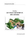 Bài giảng: Quy hoạch lâm nghiệp và điều chế rừng