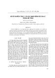 """Báo cáo """"  hệ số khuếch tán Cl và các dạng nồng độ của Cl trong bê tông """""""