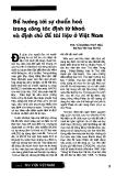 """Báo cáo """" Để hướng tới sự chuẩn hoá trong công tác định từ khoá và định chủ đề tài liệu ở Việt Nam """""""