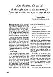 """Báo cáo """" Công tác phục hồi, lưu giữ và bảo quản vốn tài liệu hán nôm cổ ở thư viện trường đại học sư phạm Hà Nội """""""