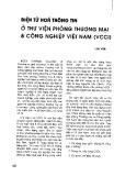 """Báo cáo """"Điện tử hoá thông tin ở thư viện phòng thương mại và công nghiệp Việt Nam (VCCI)"""""""