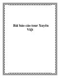 Bài báo cáo tour Xuyên Việt