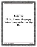 Đề tài:  Camera dùng mạng Nơtron trong matlab giao tiếp Plc