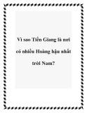 Vì sao Tiền Giang là nơi có nhiều Hoàng hậu nhất trời Nam?