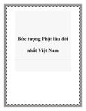 Bức tượng Phật lâu đời nhất Việt Nam