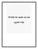 10 kiệt tác quân sự của người Việt