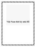 Việt Nam thời kỳ nhà Hồ