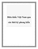 Điêu khắc Việt Nam qua các thời kỳ phong kiến