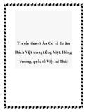 Truyền thuyết Âu Cơ và dư âm Bách Việt trong tiếng Việt: Hùng Vương, quốc tổ Việt lai Thái