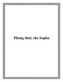 Phong thuỷ cho Sopha