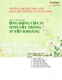 Báo cáo chuyên đề: Ứng dụng của vi sinh vật trong tuyển khoáng