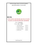 Đề tài: ỨNG DỤNG GIS TRONG QUẢN LÝ NƯỚC NGẦM TẠI THÀNH PHỐ HỒ CHÍ MINH