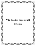 Văn hoá ẩm thực người H'Mông