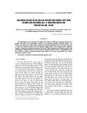 Ảnh hưởng của một số vật liệu che phủ đến sinnh trưởng, phát triển và năng suất của giống lạc l14 trong điều kiện vụ thu trên đất Gia Lâm - Hà Nội