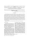 KẾT QUẢ NGHIÊN CỨU MỘT SỐ ĐẶC ĐIỂM THỰC VẬT HỌC CÁC MẪU GIỐNG HOA HỒNG TIỂU MUỘI (Rosa Floribunda bybrid) TRỒNG TRONG CHẬU CÓ NGUỒN GỐC ĐỊA PHƯƠNG VÀ NHẬP NỘI