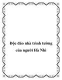 Độc đáo nhà trình tường của người Hà Nhì