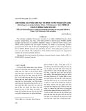 Ảnh hưởng của phân sinh học tới bệnh tuyến trùng nốt sưng (Meloidogyne incognita Kofoid et White, 1919/Chitwood, 1949) trên cà chua vụ Đông xuân 2002 - 2003