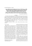 Ảnh hưởng của môi trường nuôi cấy và thuốc Metalaxyl đến sự sinh trưởng , phát triển của nấm, phát triển của nấm Phytophthora infestans (Mont.) de Bary trên một số giống cà chua, khoai tây