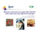 Năng lực cạnh tranh của ngành điều Việt Nam trước hội nhập kinh tế