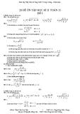 20 đề ôn tập học kỳ II  Môn toán 11