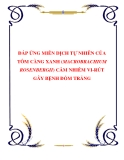 ĐÁP ỨNG MIỄN DỊCH TỰ NHIÊN CỦA TÔM CÀNG XANH (MACROBRACHIUM ROSENBERGII) CẢM NHIỄM VI-RÚT GÂY BỆNH ĐỐM TRẮNG