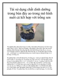 Tái sử dụng chất dinh dưỡng trong bùn đáy ao trong mô hình nuôi cá kết hợp với trồng sen