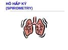 Hô hấp ký