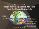 Thiết Kế Và Vận Hành Mô Hình Nuôi Cá Trong Ruộng Lúa