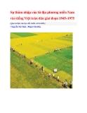 Sự thâm nhập của từ địa phương miền Nam vào tiếng Việt toàn dân giai đoạn 1945–1975