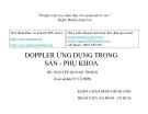 Bài giảng: DOPPLER ỨNG DỤNG TRONG SẢN - PHỤ KHOA