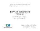 DOPPLER ĐỘNG MẠCH CHI DƯỚI