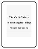 Văn hóa Nõ Nường : Po me của người Thái tạo ra ngôn ngữ của họ